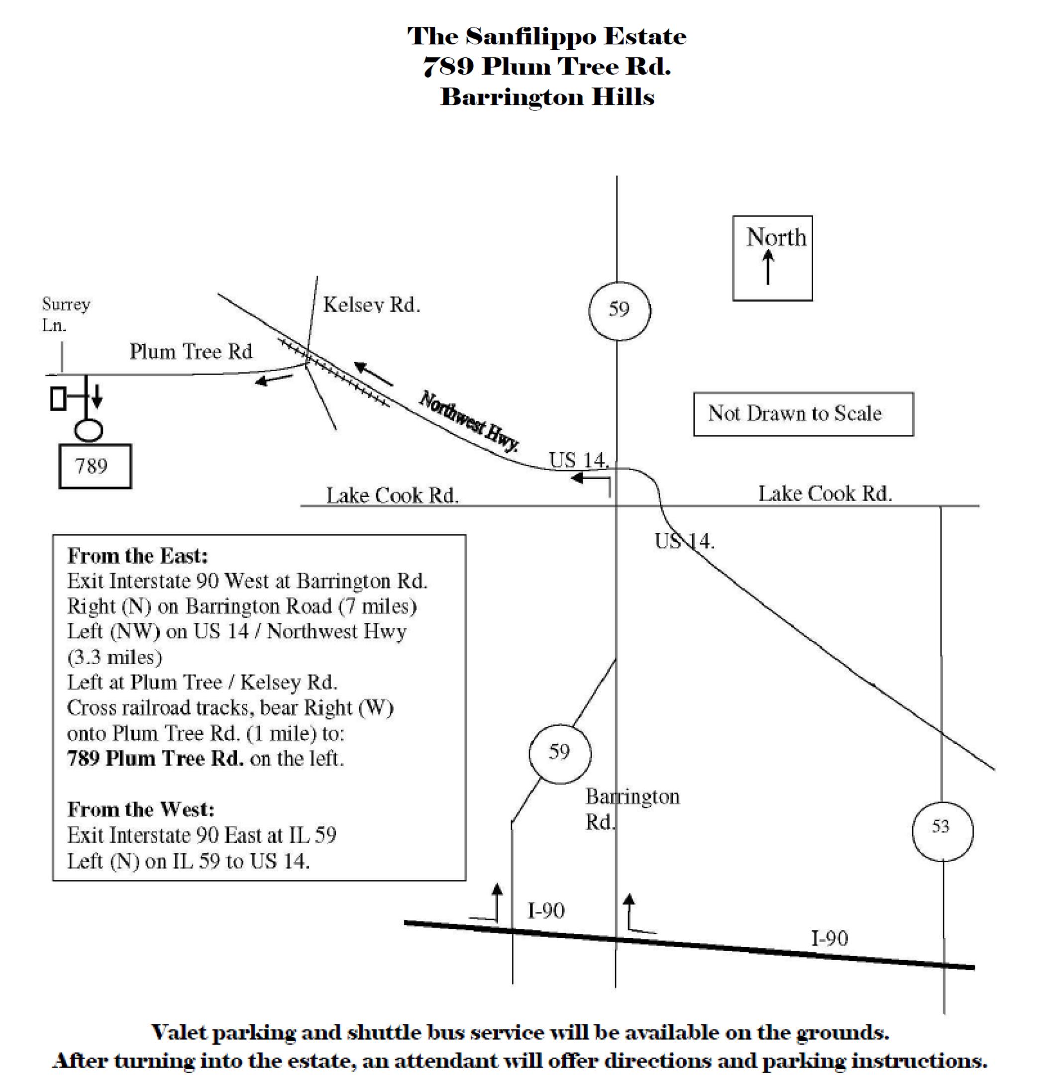 Directions to Sanfilippo Estate2